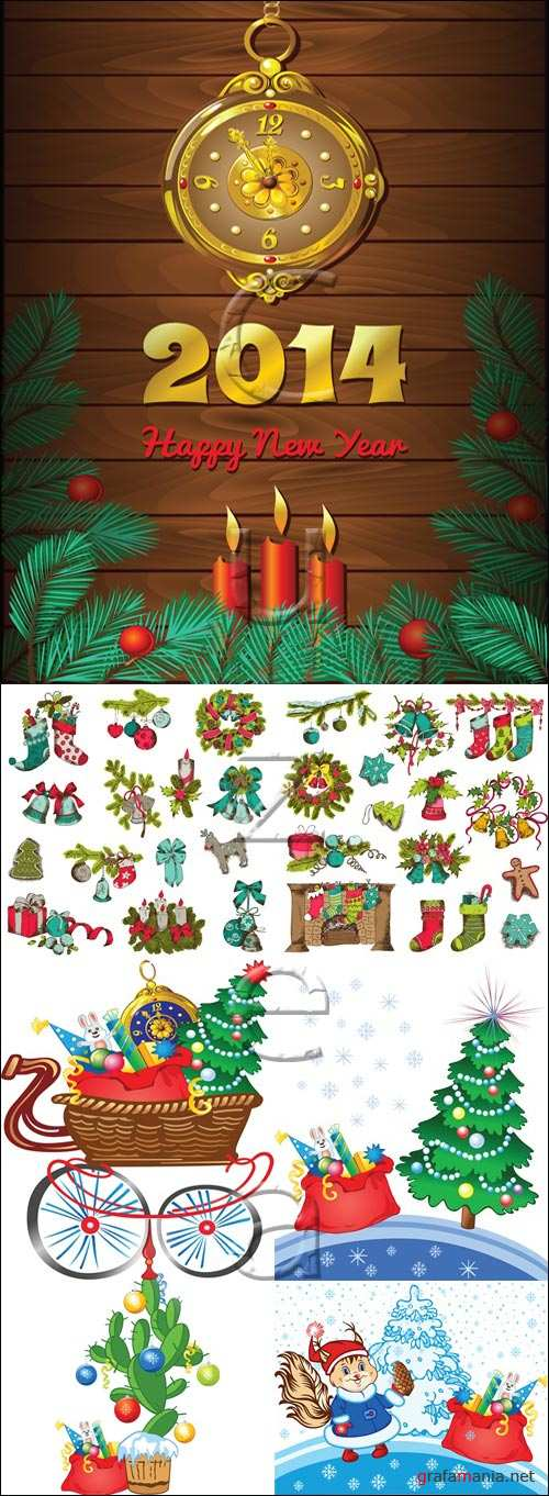 Merry christmas vector elements 2014, part 9