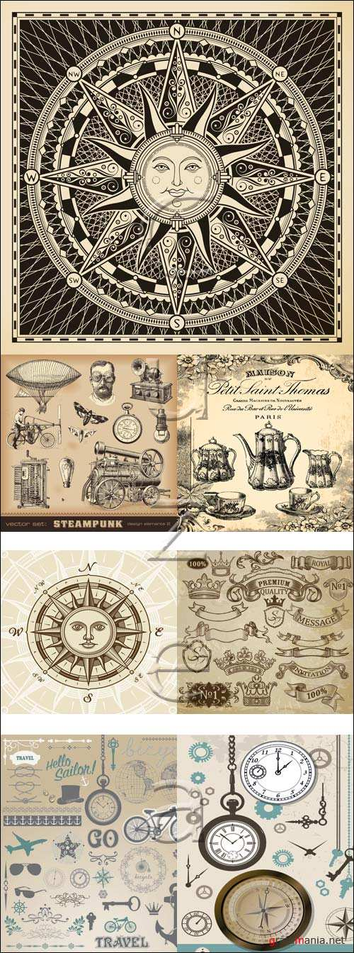 Vintage elements, 22 - vector stock