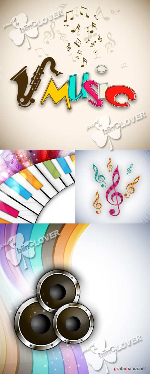Colorful music background 0494