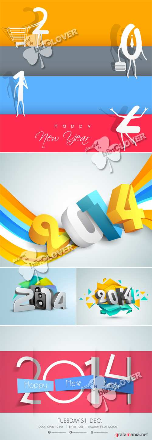 New Year 2014 background 0494