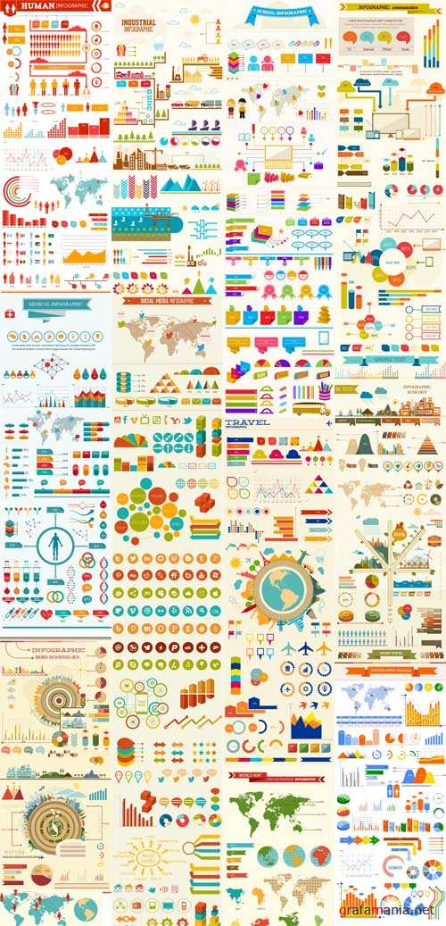 11 Vector Sets Infographic Design