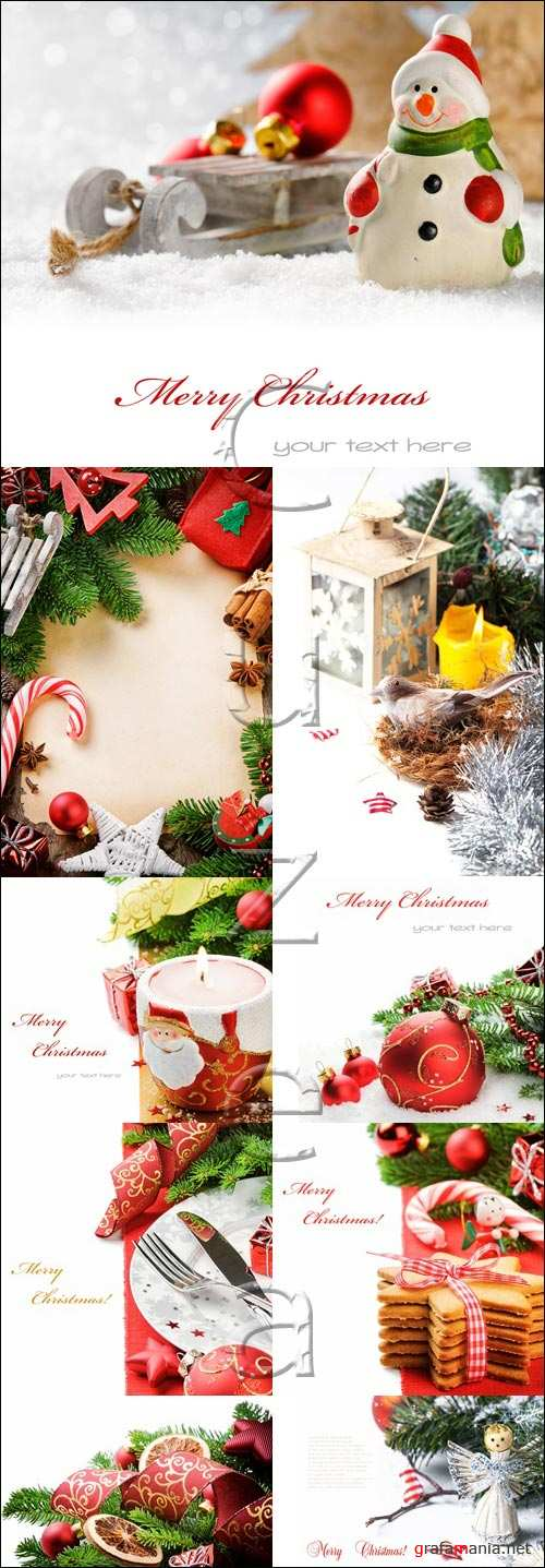 Christmass and new year backgrounds 2014 - stock photo