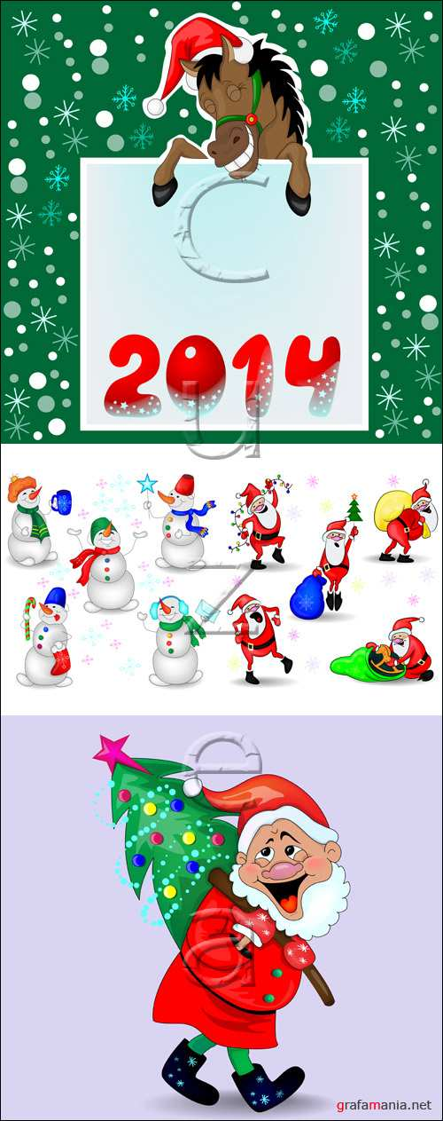 New year vector elements 2014, part 10 - vector stock