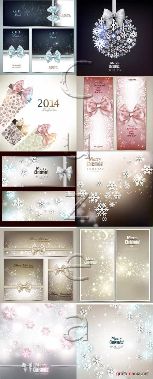Banners for christmas holiday - vector stock 2014