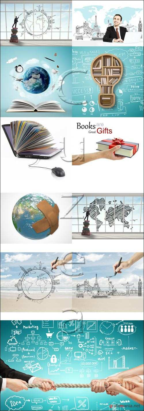 Education and travel concept - stock photo