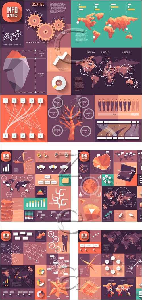 Infographic elements, 87 - vector stock