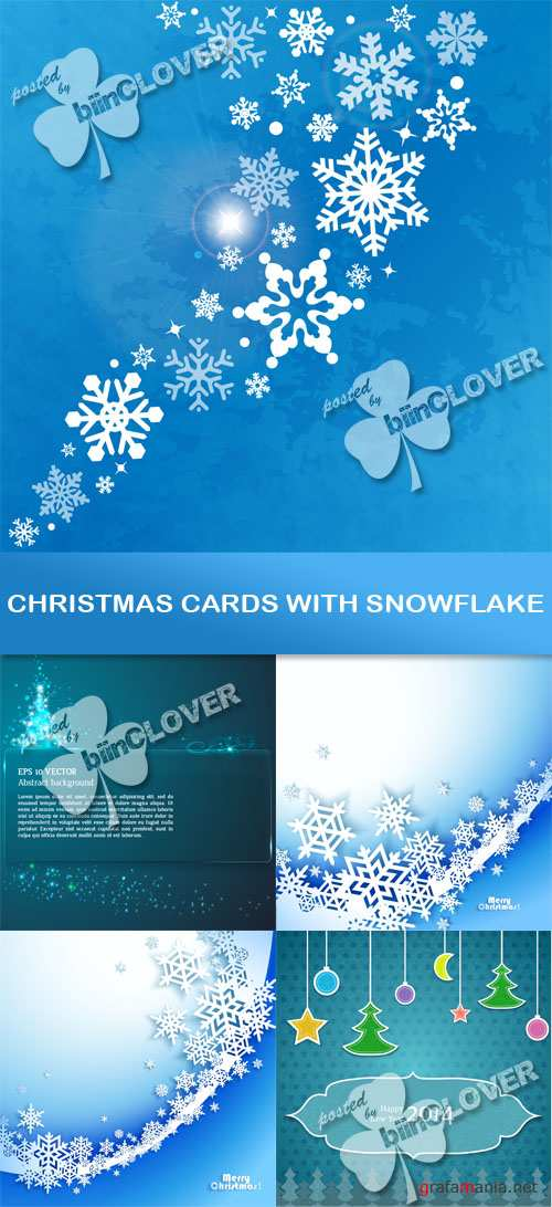 Christmas cards with snowflake 0500