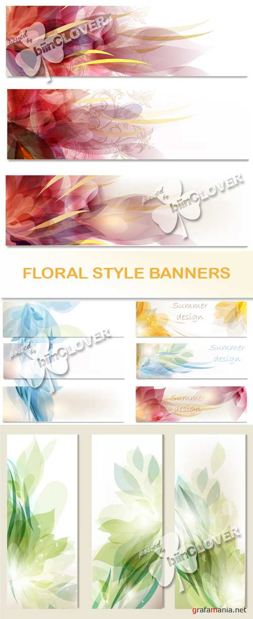 Floral style banners 0500