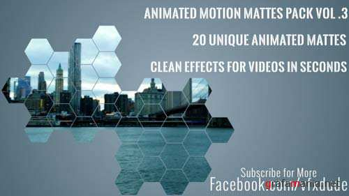 Clean Animated Motion Mattes Pack 3 - After Effects Motion Graphics (Videohive)
