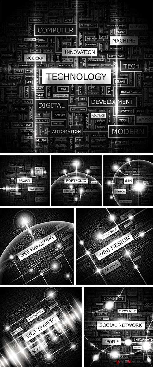 Stock: TECHNOLOGY. Word cloud concept