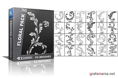 Floral Photoshop Brushes Pack 36