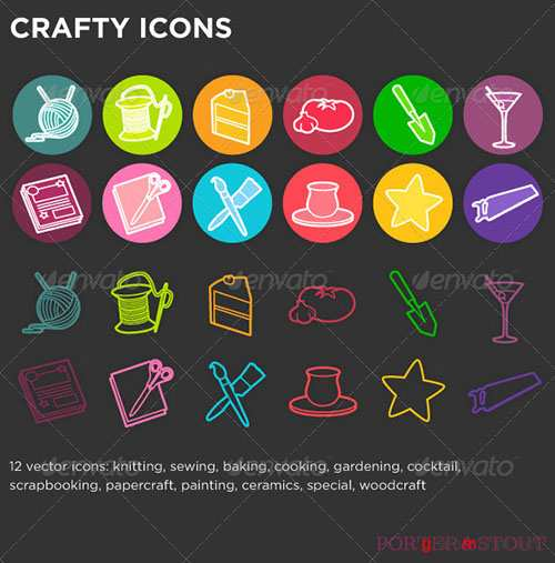 GraphicRiver - Crafty Icons 813195