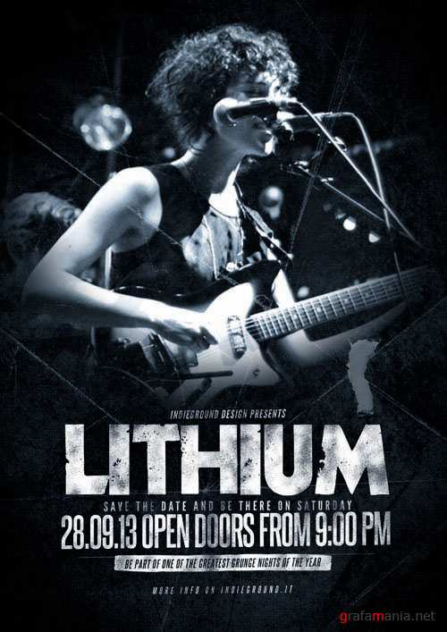 Indie Lithium Flyer Template PSD