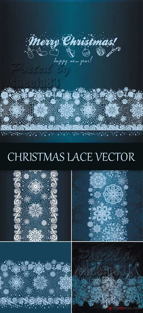 Christmas Lace Vector