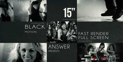 Black Solid Motion - After Effects Project (Videohive)