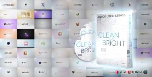 Quick Logo Sting Pack 01: Clean & Bright - After Effects Project (Videohive)