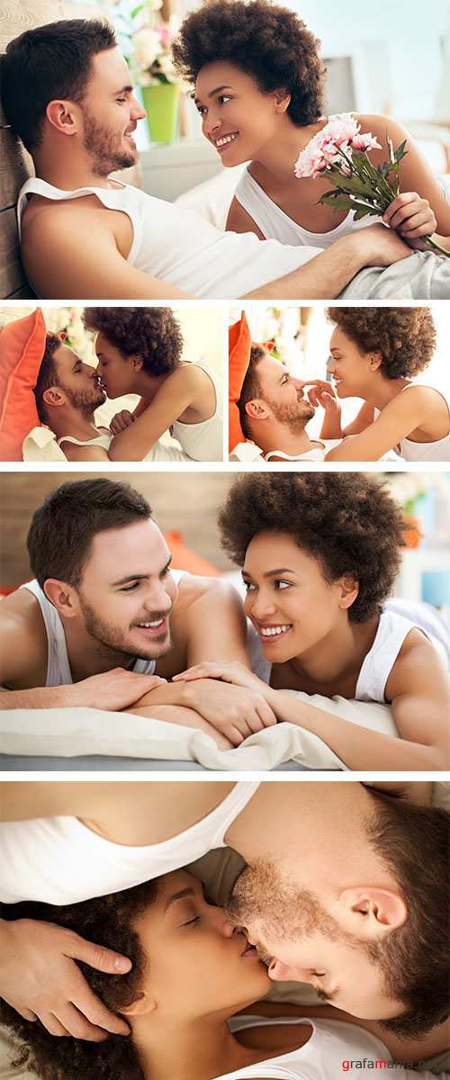 Stock Photo: Couple in Bed