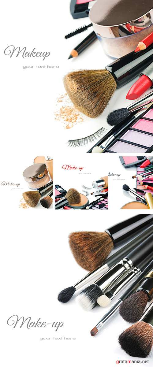 Stock Photo: Colorful make-up products