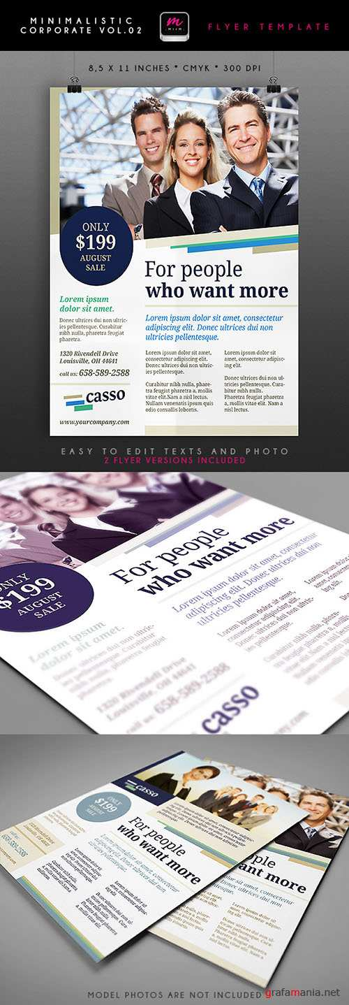 Financial Solutions Minimalistic Corporate Flyer/Poster PSD Template #2