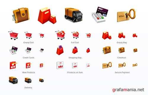 10 E-Commerce Icons Set