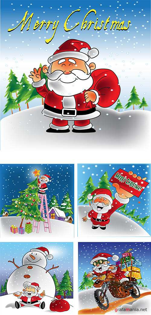 Stock: Santa Claus smiling