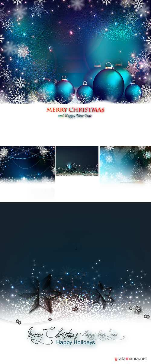 Stock: Night Christmas backgrounds