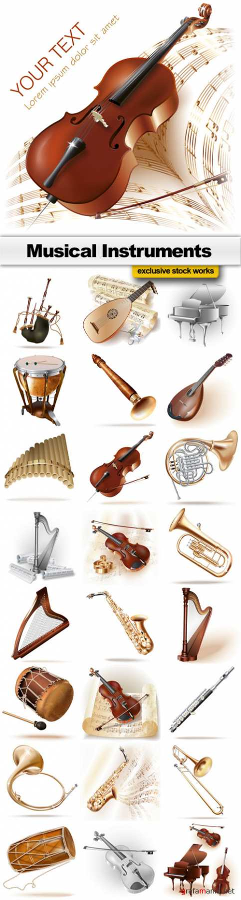 Musical Instruments  - 25 EPS