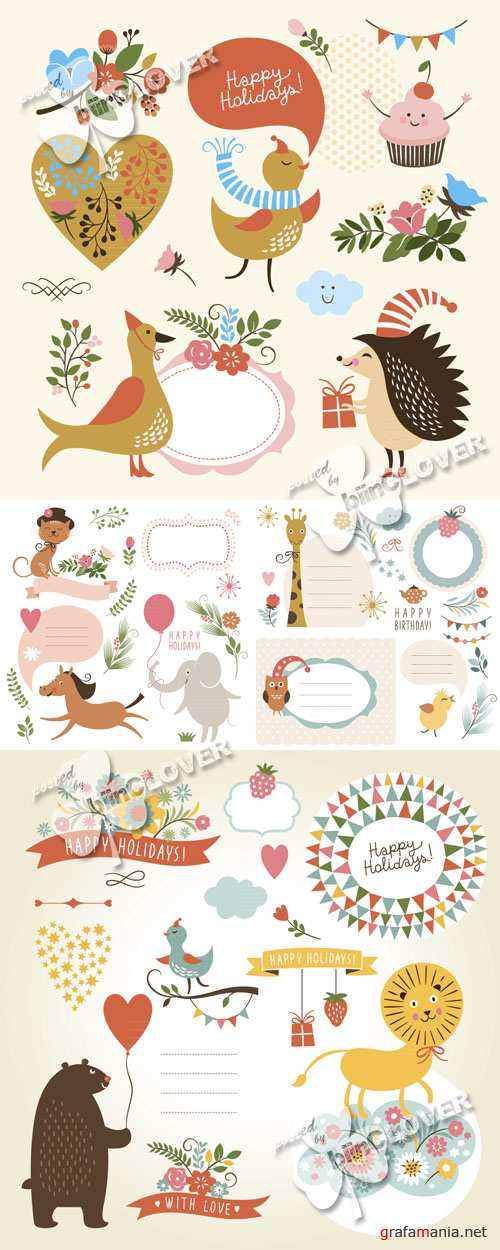 Greeting cards with animals 0515