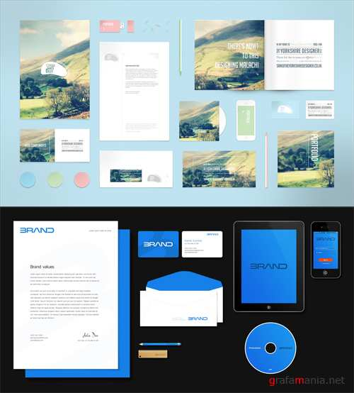 Stationery and Corporate Identity Mockup Templates