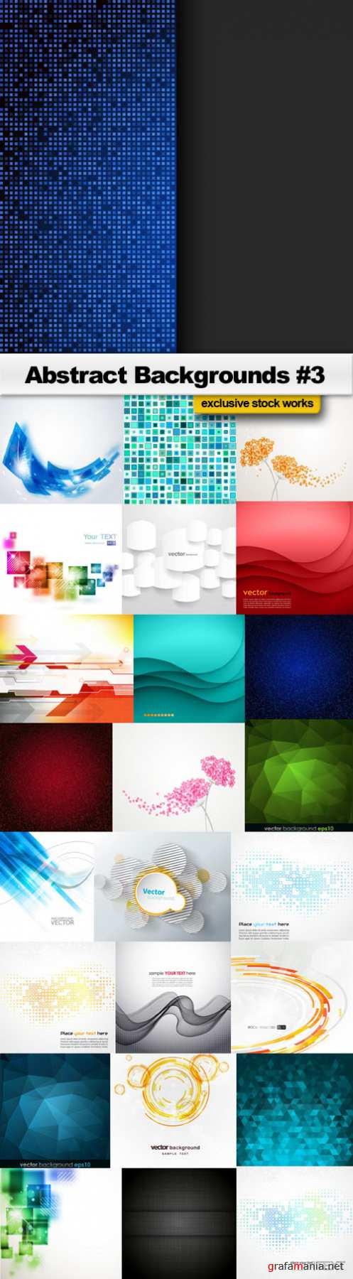 Abstract Backgrounds #3 - 25 EPS