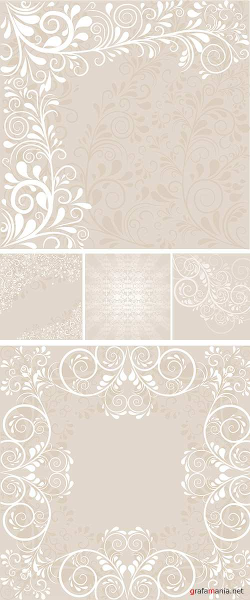 Stock: Background with ornaments 7