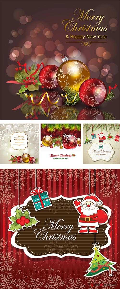 Stock: Abstract christmas background 15