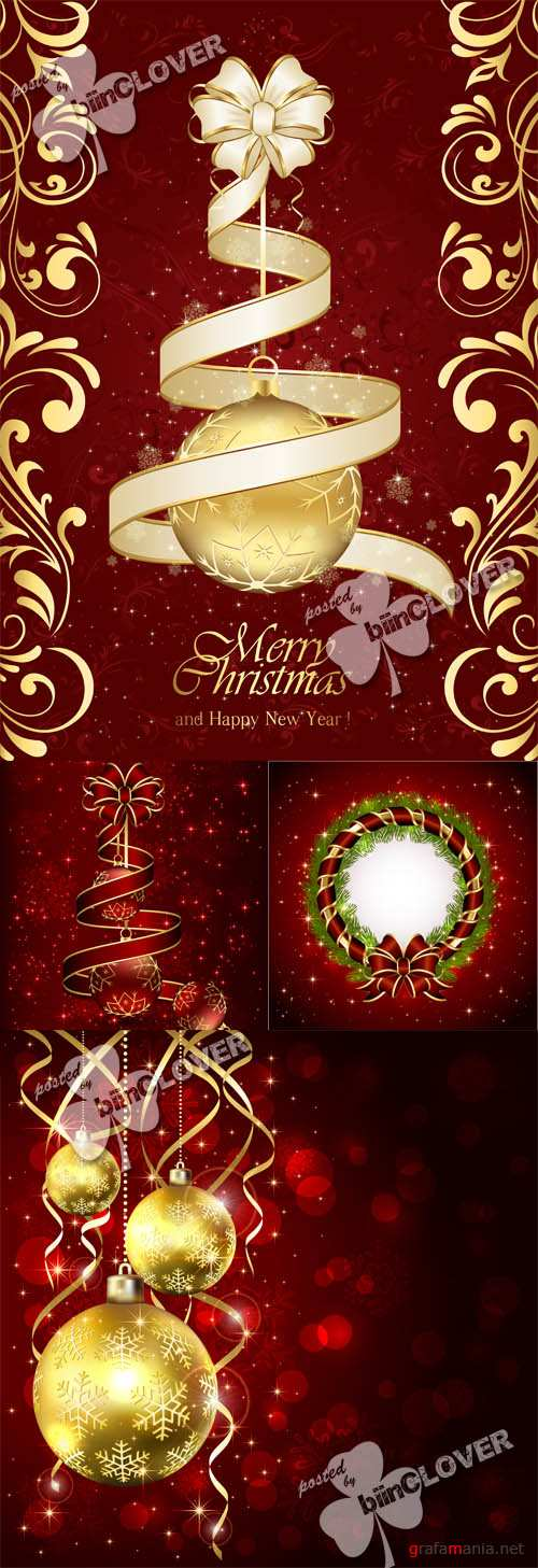 Christmas cards with bow 0525