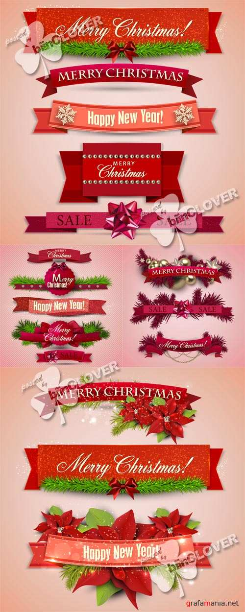 Christmas set of ribbons, labels and tags 0525