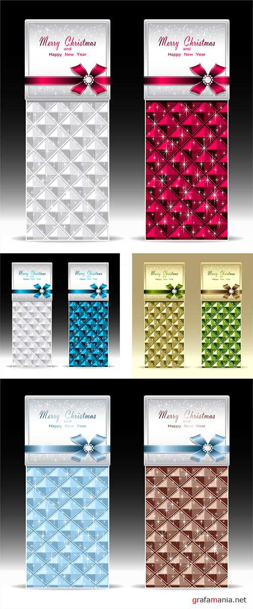 Stock: Banners or gift card with bow geometric