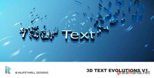3D-Text Evolutions - After Effects Project (Videohive)