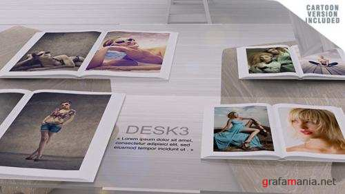 Desk Gallery with Cartoon version - After Effects Project (Videohive)