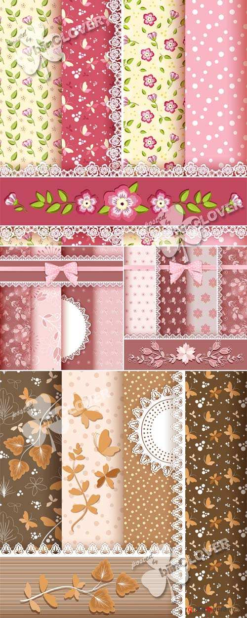 Set of floral seamless pattern 0526