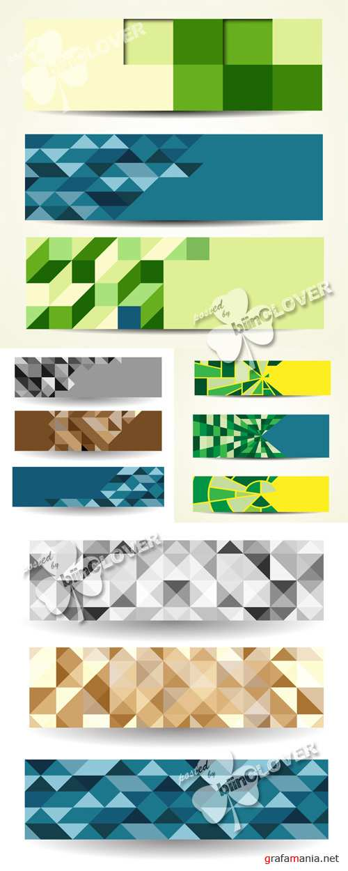 Abstract geometric banners 0532