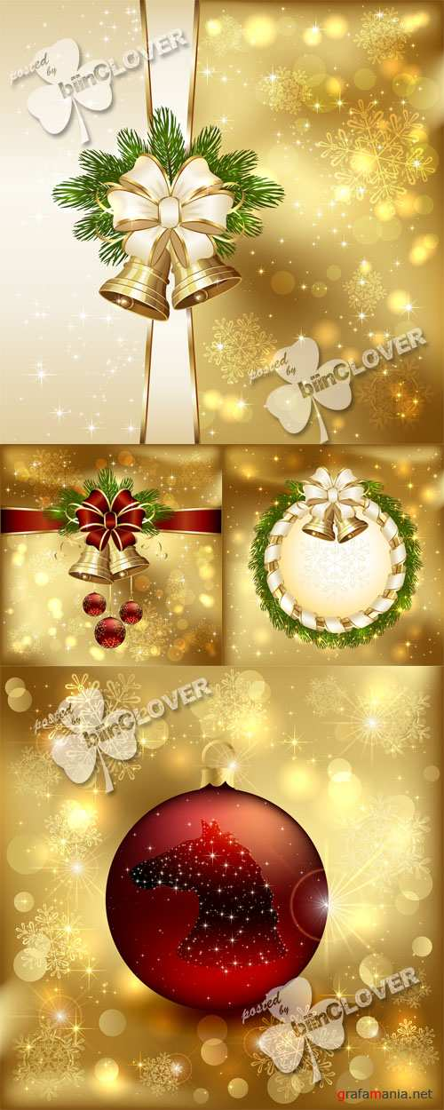 Christmas card with bells 0532