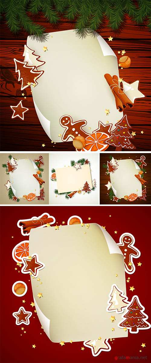 Stock: Vector Illustration of a Christmas Background