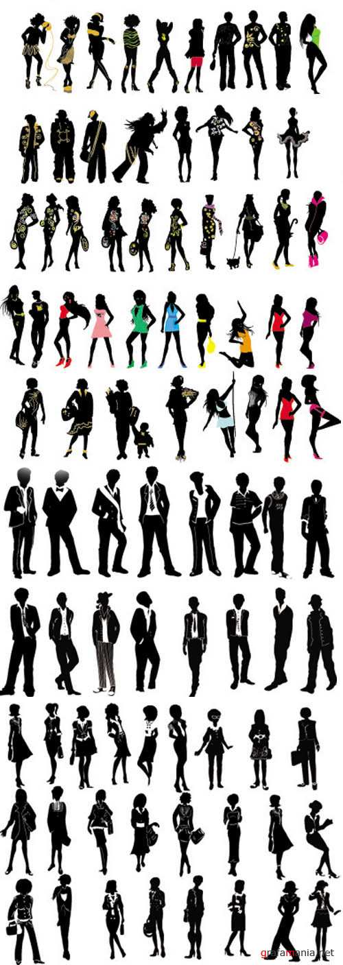Vector Shapes Peoples - Fashion