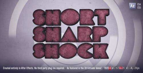 Short Sharp Shock - After Effects Project (Videohive)