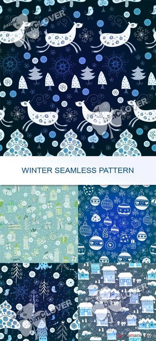 Winter seamless pattern 0536