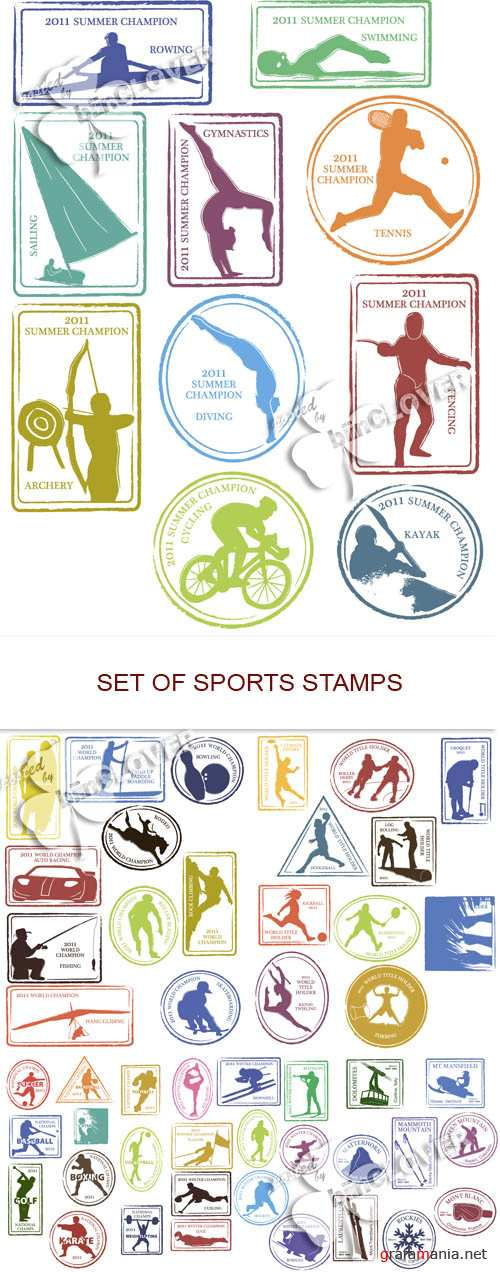 Set of sports stamps 0537