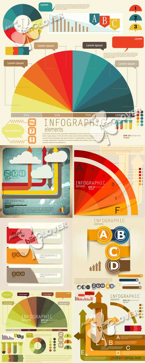 Set of Infographic elements 0537