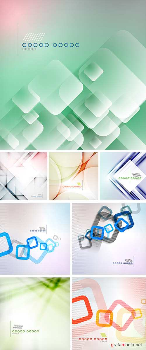 Stock: Abstract background geometric square