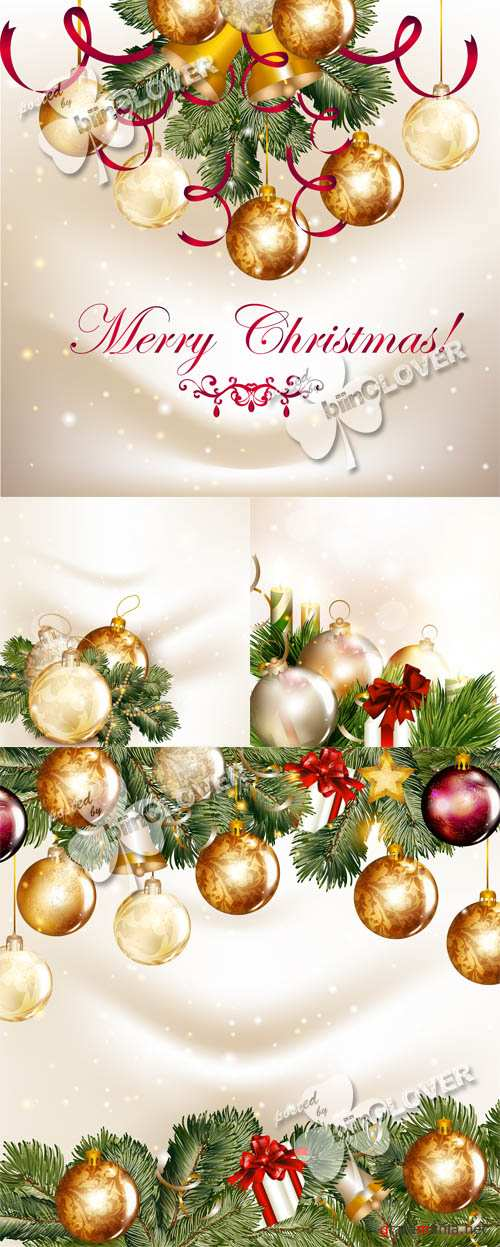 Christmas design with gold baubles 0540