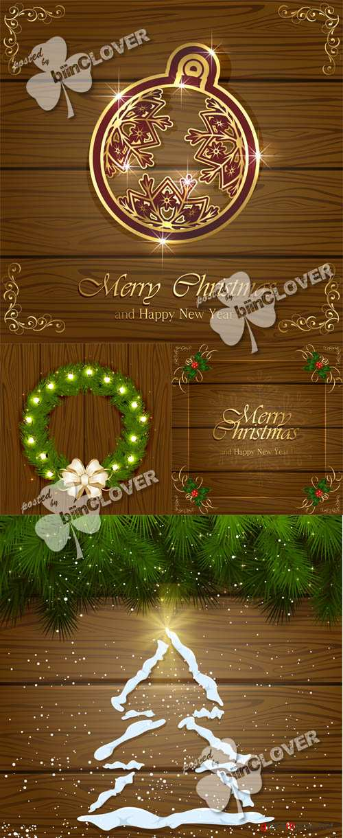 Christmas wooden background 0540