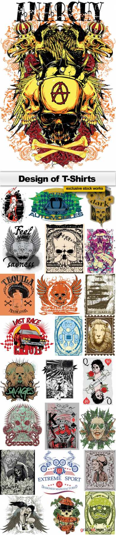 Design of T-Shirts Collection